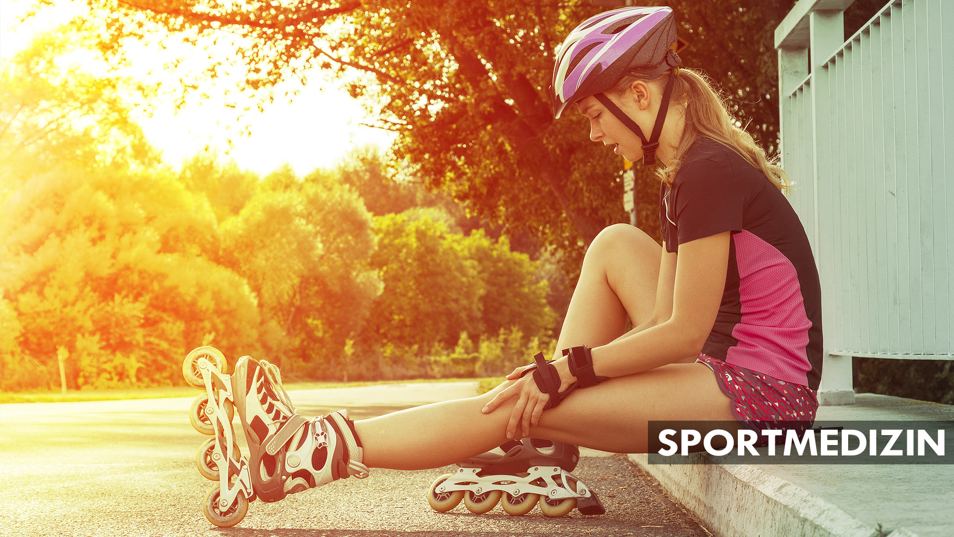 Sportmedizin Imageproduktion für Sprühpflaster